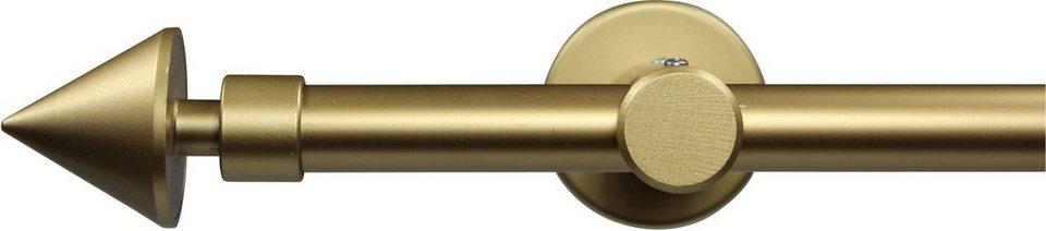 Gardinenstange nach Maß Ø 20 mm, Garesa, »Speer«, ohne Ringe, mit geschlossenem Träger in gold matt