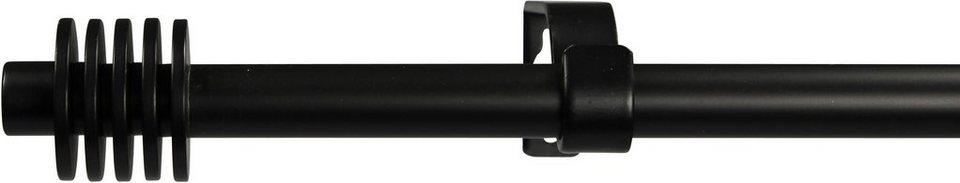 Gardinenstange 16 mm Space, ohne Ringe, nach Maß in schwarz
