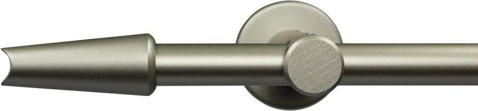 Gardinenstange nach Maß Ø 20 mm, Garesa, »Fit«, ohne Ringe, mit geschlossenem Träger in chrom matt