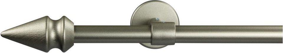 Gardinenstange 16 mm Spyrna, ohne Ringe, mit geschlossenen Träger, nach Maß in chrom matt