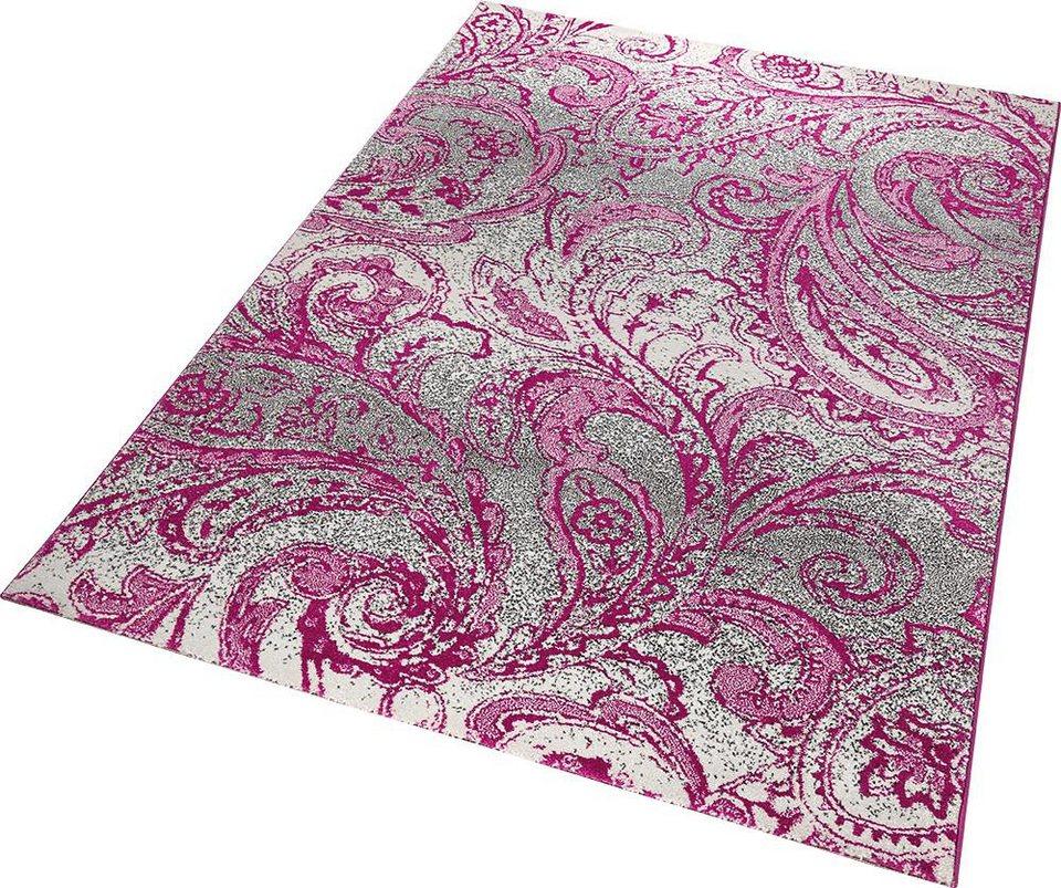 Teppich, ESPRIT, »Paisley«, gewebt in pink