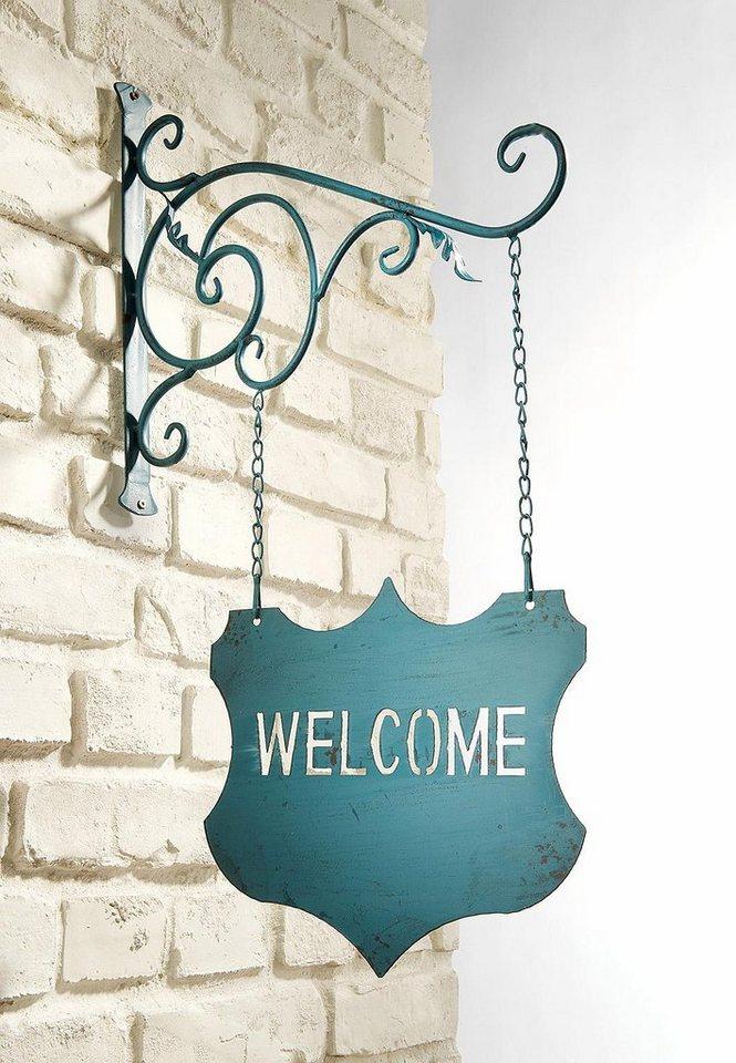Home affaire Hängeschild »Welcome« in blau
