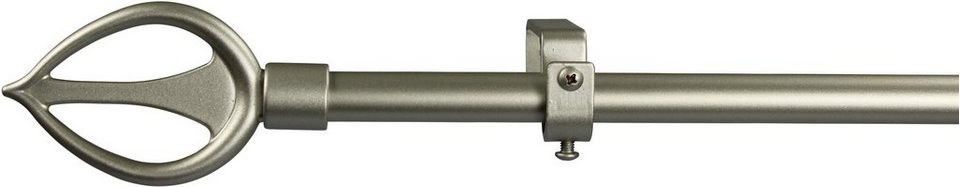 Gardinenstange 16 mm Duna, ohne Ringe, nach Maß in chrom matt