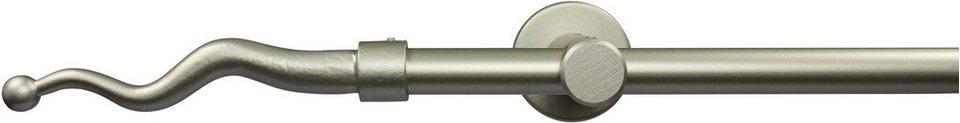 Gardinenstange nach Maß Ø 20 mm, Garesa, »Boto«, ohne Ringe, mit geschlossenem Träger in chrom matt