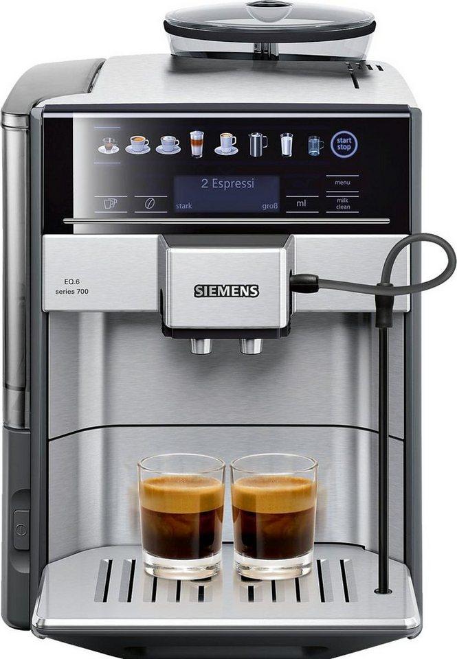 Siemens Kaffeevollautomat EQ.6 series 700 TE617503DE in edelstahl