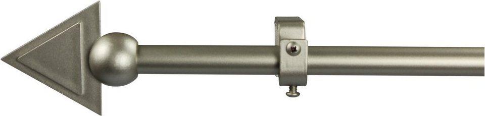 Gardinenstange 16 mm Pyra, ohne Ringe, nach Maß in chrom matt