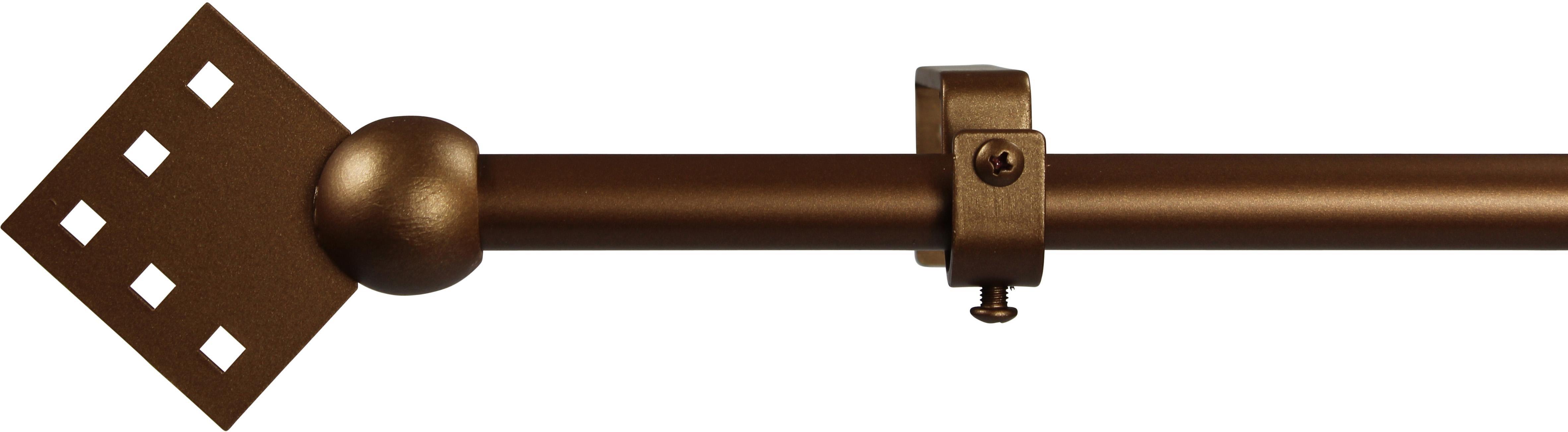 Gardinenstange 16 mm Quadro, ohne Ringe, nach Maß | Heimtextilien > Gardinen und Vorhänge > Gardinenstangen | GARESA