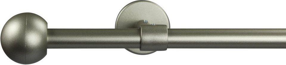 Gardinenstange 16 mm Bolti, ohne Ringe, mit geschlossenen Träger, nach Maß in chrom matt