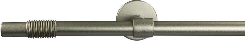 Gardinenstange 16 mm Skrufa, ohne Ringe, mit geschlossenen Träger, nach Maß in chrom matt