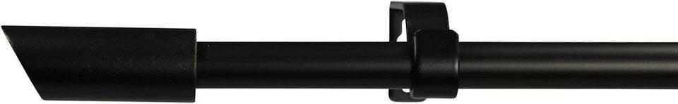 Gardinenstange 16 mm Zyli, ohne Ringe, nach Maß in schwarz