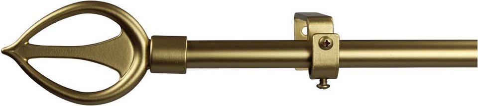 Gardinenstange 16 mm Duna, ohne Ringe, nach Maß in gold matt