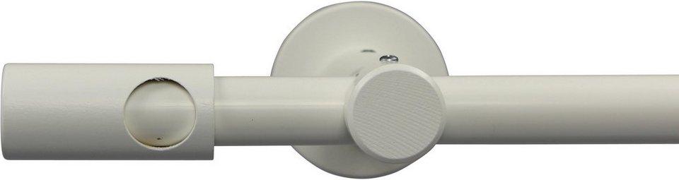 Gardinenstange nach Maß Ø 20 mm, Garesa, »Pandri«, ohne Ringe, mit geschlossenem Träger in weiß