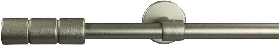 Gardinenstange 16 mm Staura, ohne Ringe, mit geschlossenen Träger, nach Maß in chrom matt