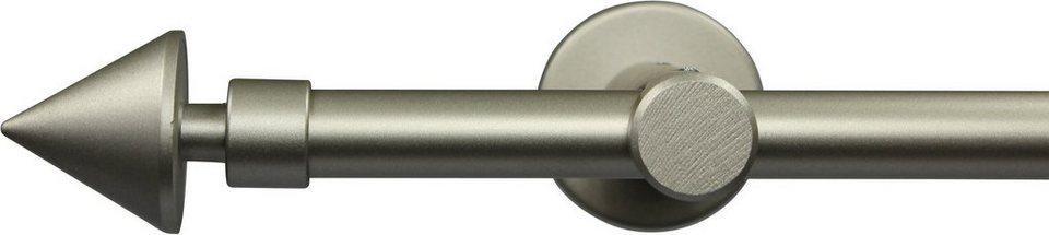 Gardinenstange nach Maß Ø 20 mm, Garesa, »Speer«, ohne Ringe, mit geschlossenem Träger in chrom matt