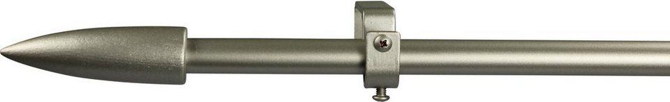 Gardinenstange 16 mm Speedy, ohne Ringe, nach Maß in chrom matt