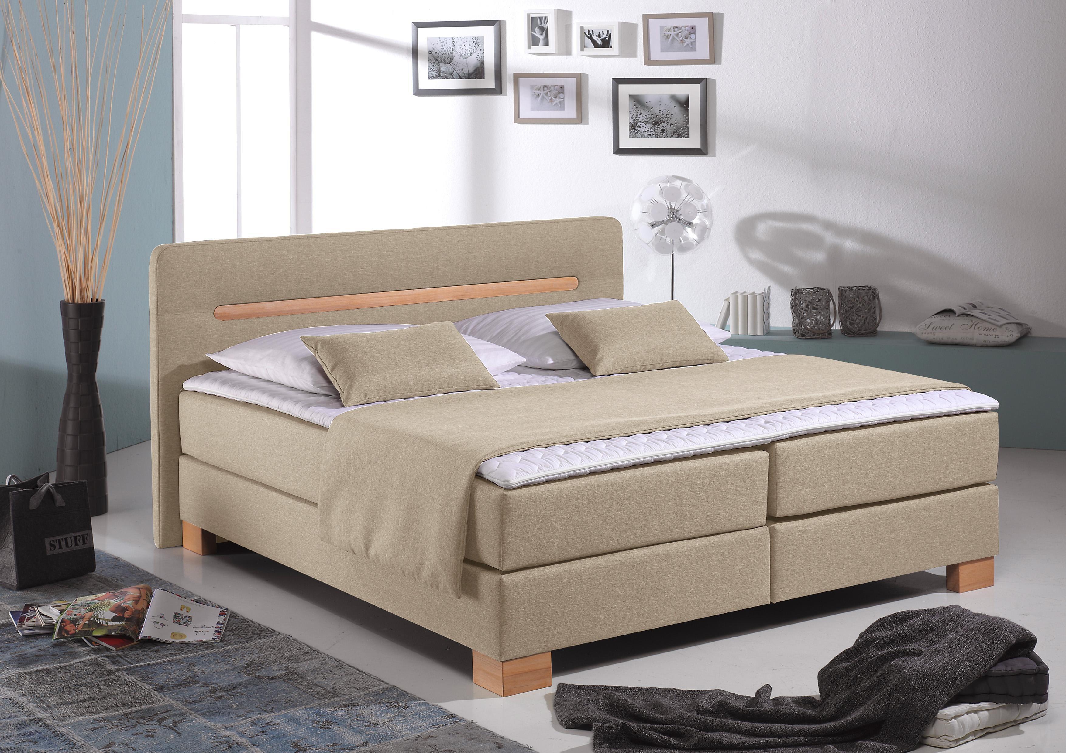 beige holz boxspringbetten online kaufen m bel suchmaschine. Black Bedroom Furniture Sets. Home Design Ideas