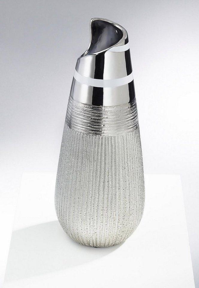 Home affaire Deko-Vase in weiß