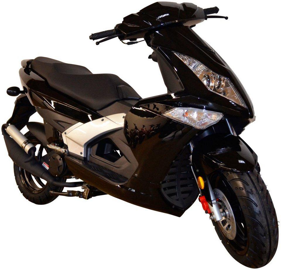 Motorroller »Manhattan«, 50 ccm, 45 km/h in schwarz