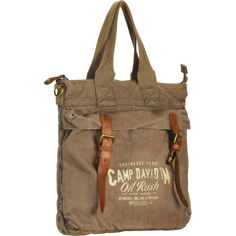 Camp David Wolf Creek Shopper Tasche 38 cm Laptopfach in khaki