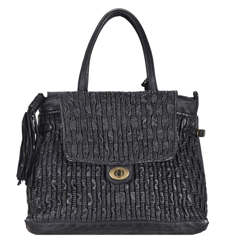 Caterina Lucchi Shopper Leder 42 cm in nero