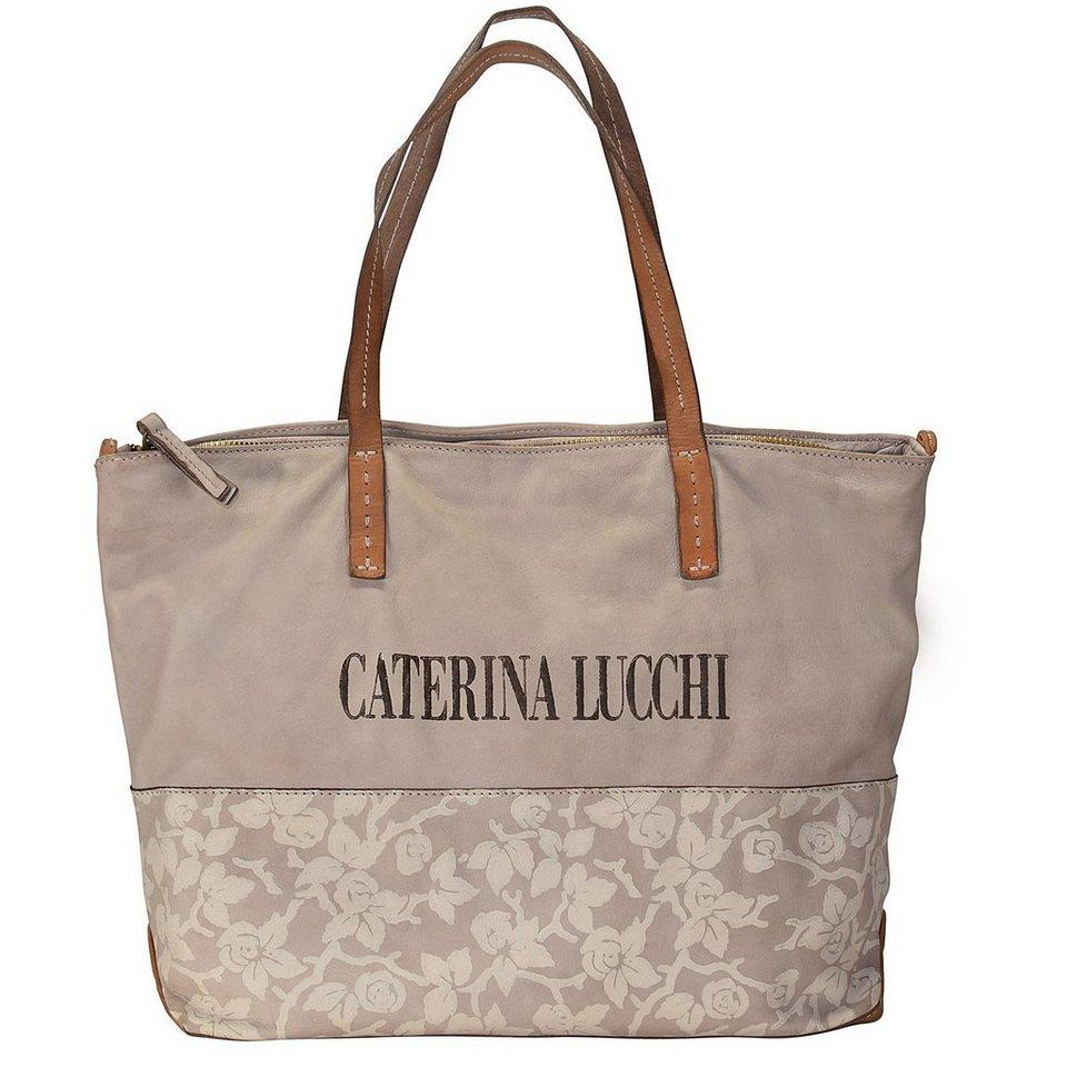 Caterina Lucchi Shopper Tasche Leder 40 cm in mauve