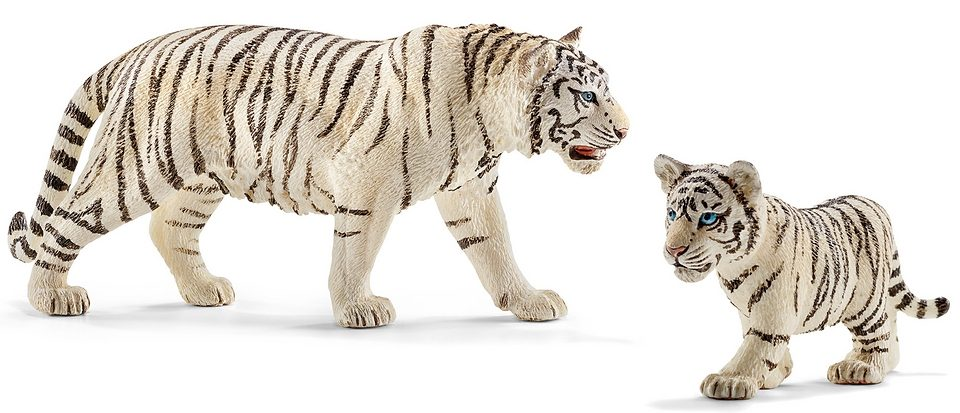 Schleich® Spielfigurenset 2-tlg., »World of Nature, Wild Life - Weißer Tiger«