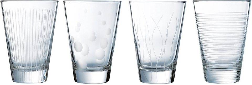 Luminarc Whiskybecher, 4 Stück, 30 cl, »LOUNGE CLUB« in transparent