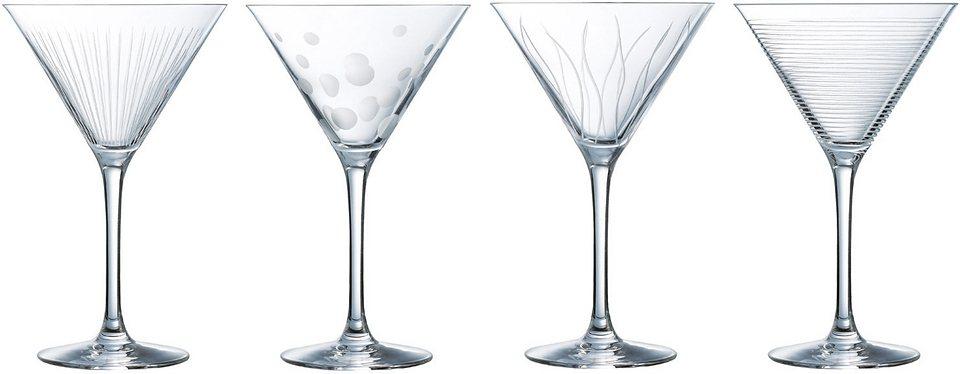 Luminarc Cocktailglas, 4 Stück, 30 cl, »LOUNGE CLUB« in transparent