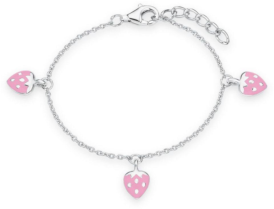 Prinzessin Lillifee Armband, »Erdbeeren, PLFS/76« in Silber 925-rosa