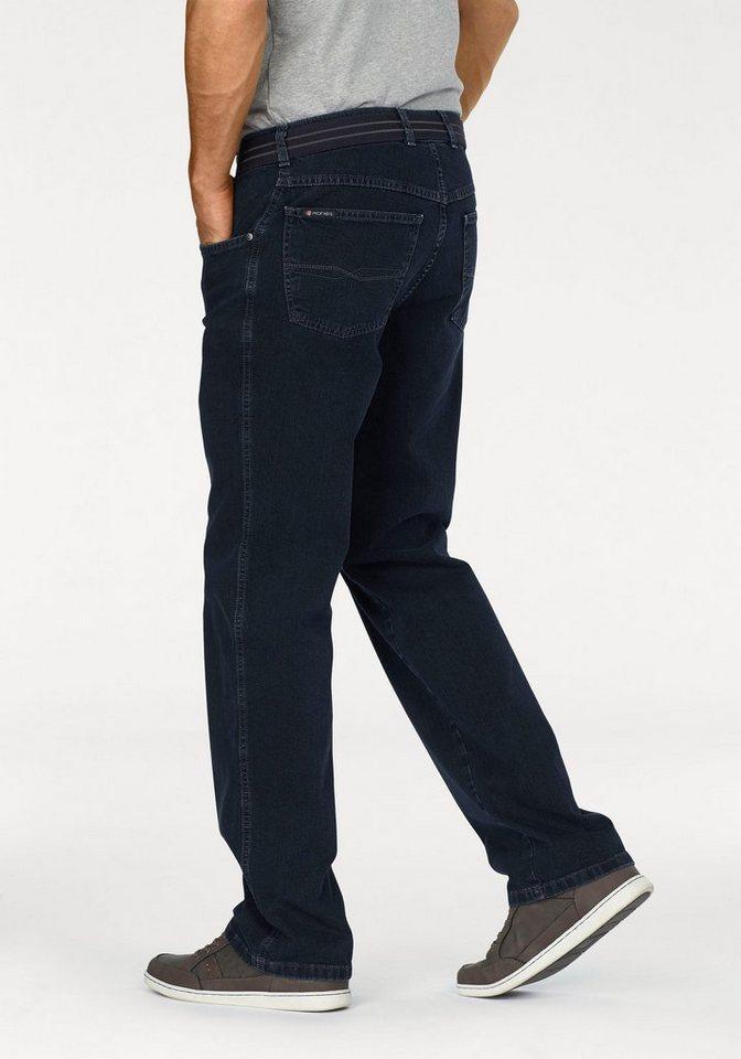 Pionier Stretch-Jeans »Peter« (Set, mit Gürtel) in dark-blue