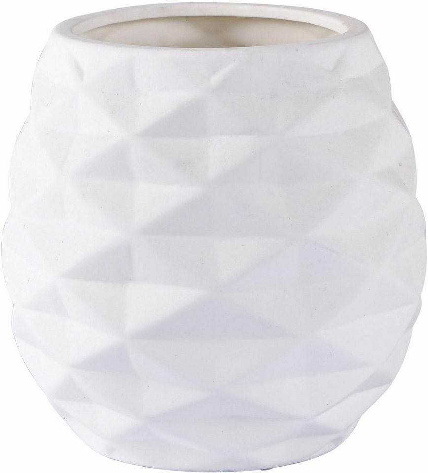 Home affaire Vase in weiß