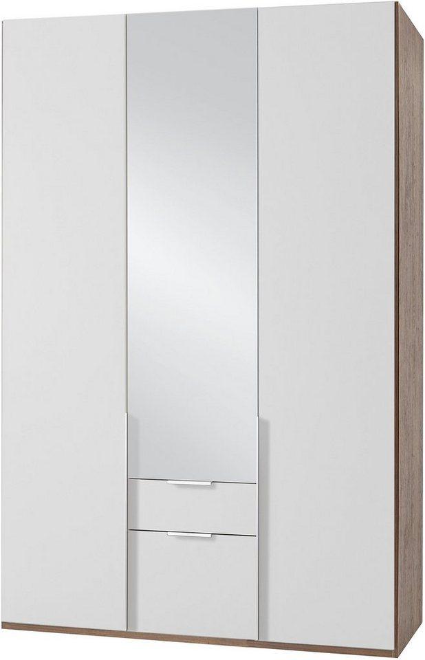 wimex kleiderschrank mit spiegelt ren und schubk sten new york online kaufen otto. Black Bedroom Furniture Sets. Home Design Ideas