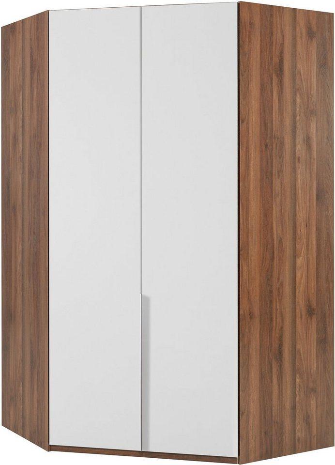Wimex Eckkleiderschrank »New York« in Columbia nussbaumfarben/weiß