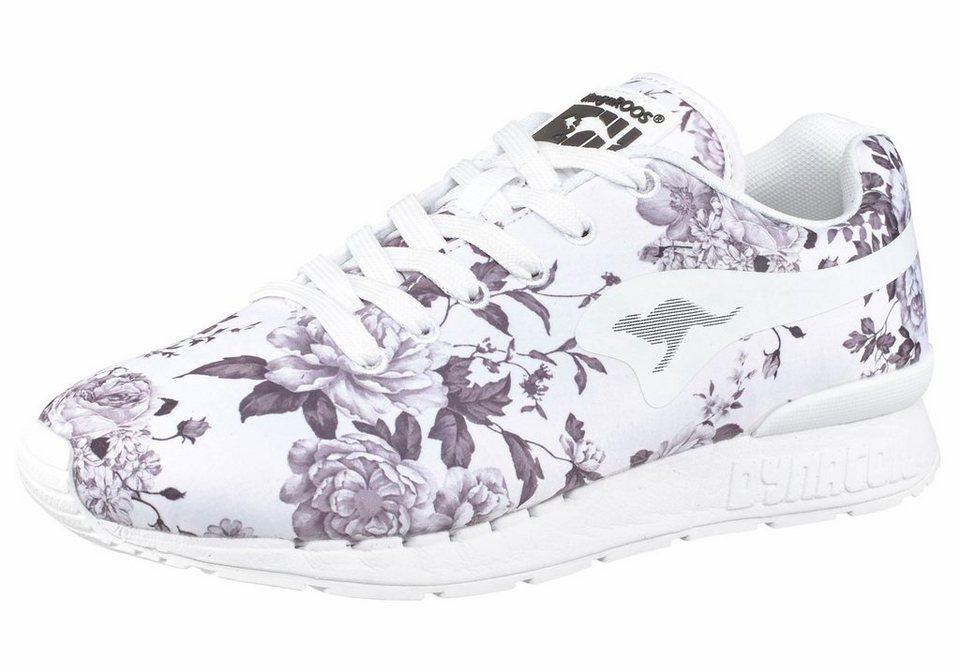 KangaROOS »Coil-R Flower« Sneaker in weiß-grau