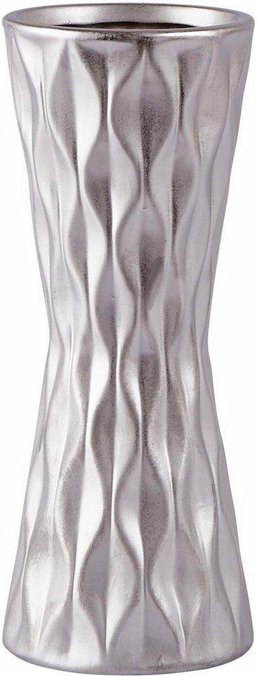 Home affaire Vase in silberfarben