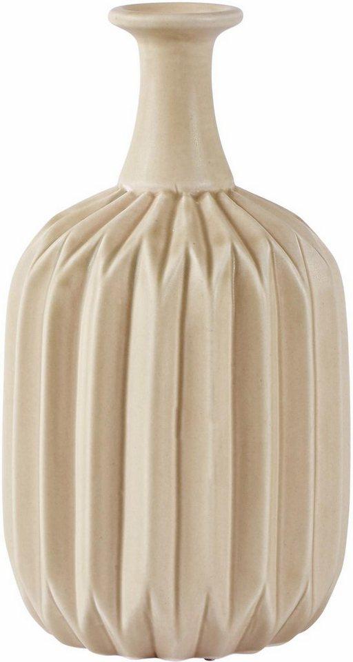 Home affaire Vase »Bambus« in gelb