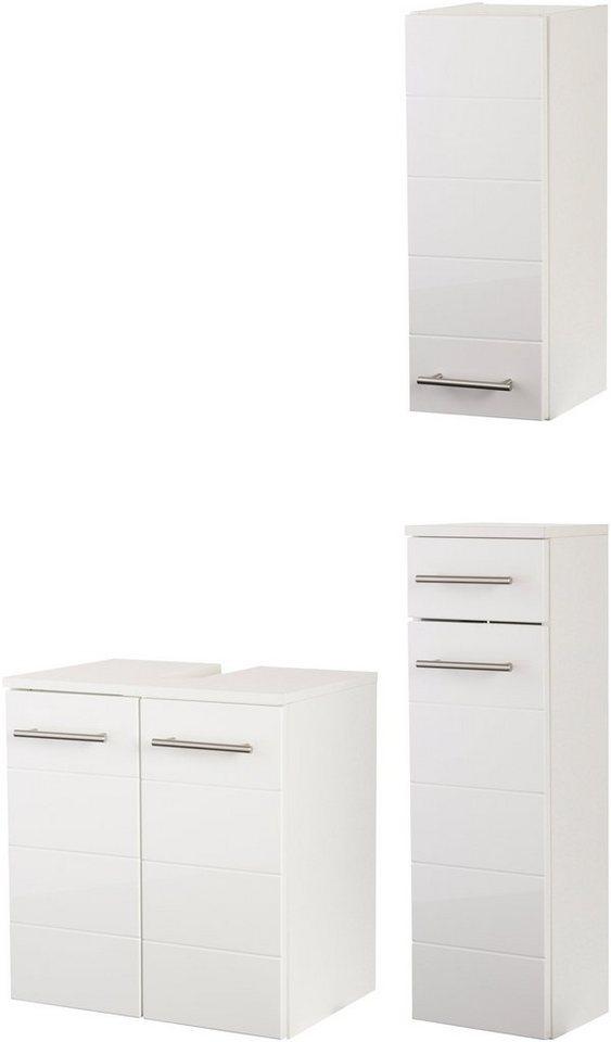 Badmöbel-Set »Porto« 3-teilig in weiß