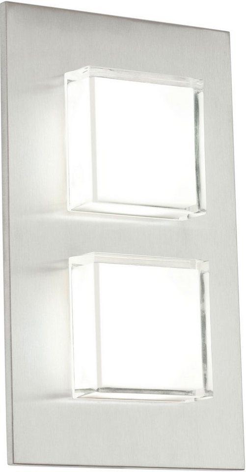 Eglo LED Außenleuchte, 2 flg., Wandleuchte, »Pias« in Edelstahl