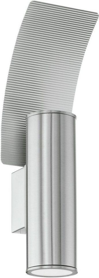 Eglo LED Außenleuchte, 2 flg., Wandleuchte, »Riga2« in Edelstahl
