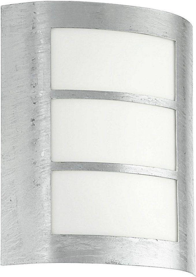 Eglo Außenleuchte, 1 flg., Wandleuchte, »City« in Stahl, feuerverzinkt/Kunststoff, weiß