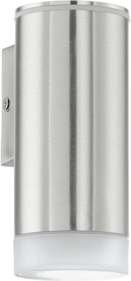 Eglo LED Außenleuchte, 1 flg., Wandleuchte, »RIGA-LED« in Edelstahl/Kunststoff, teilsatiniert