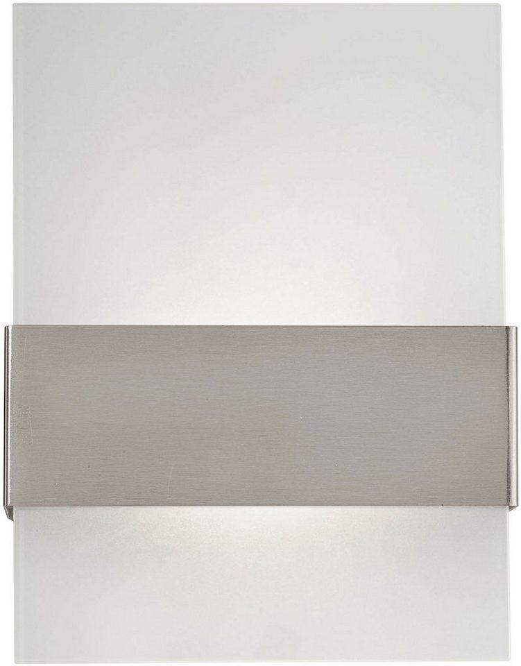 Eglo LED Außenleuchte, 2 flg., Wandleuchte, »Nadela« in Edelstahl, Glas satiniert