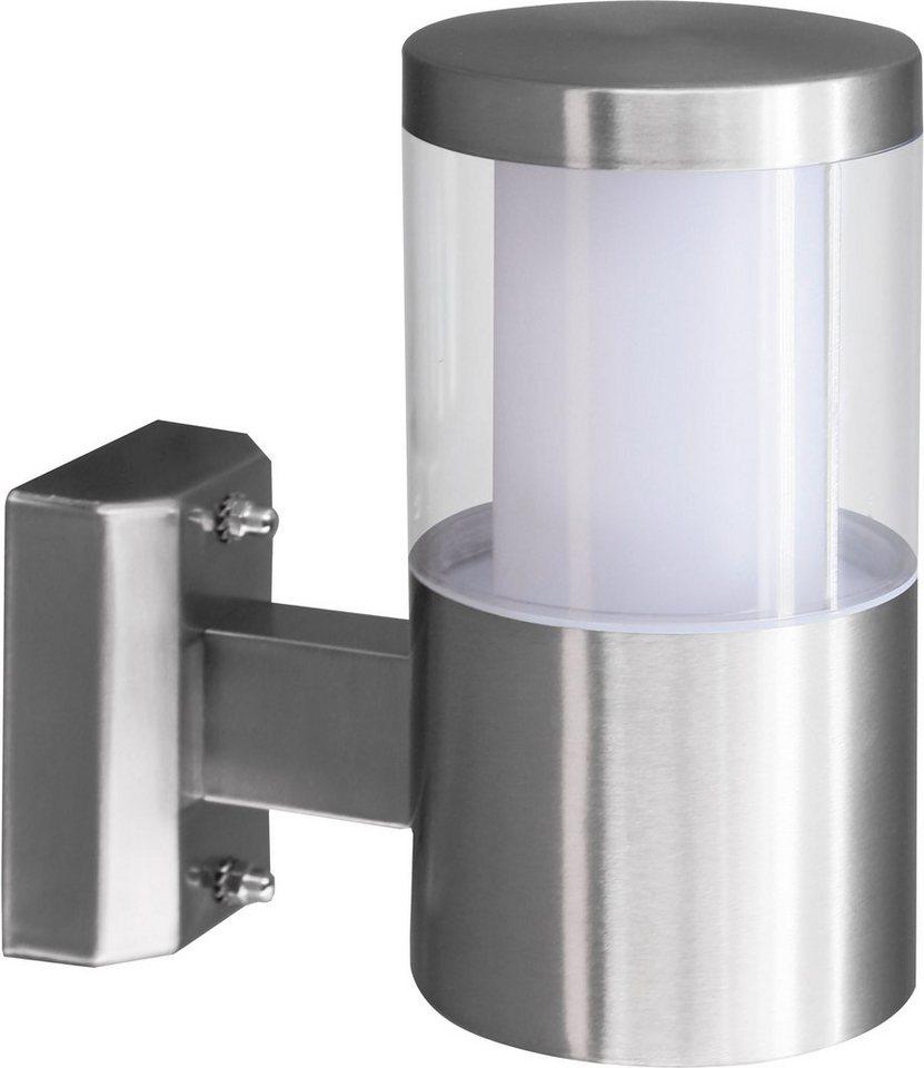 Eglo LED Außenleuchte, 1 flg., Wandleuchte, »Basalgo« in Edelstahl/Kunststoff