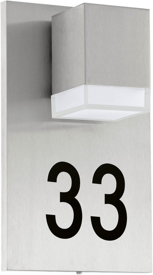 Eglo LED Außenleuchte, 1 flg., Wandleuchte, »Pardela1« in Edelstahl