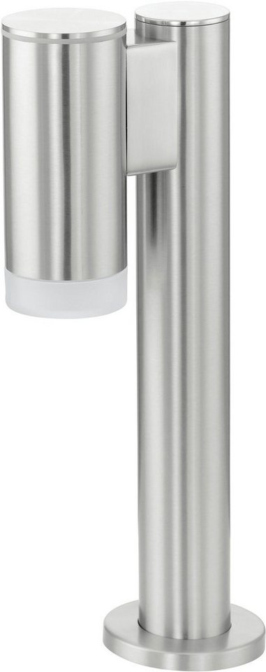 Eglo LED Außenleuchte, 1 flg., Sockelleuchte, »RIGA-LED« in Edelstahl/Kunststoff, teilsatiniert