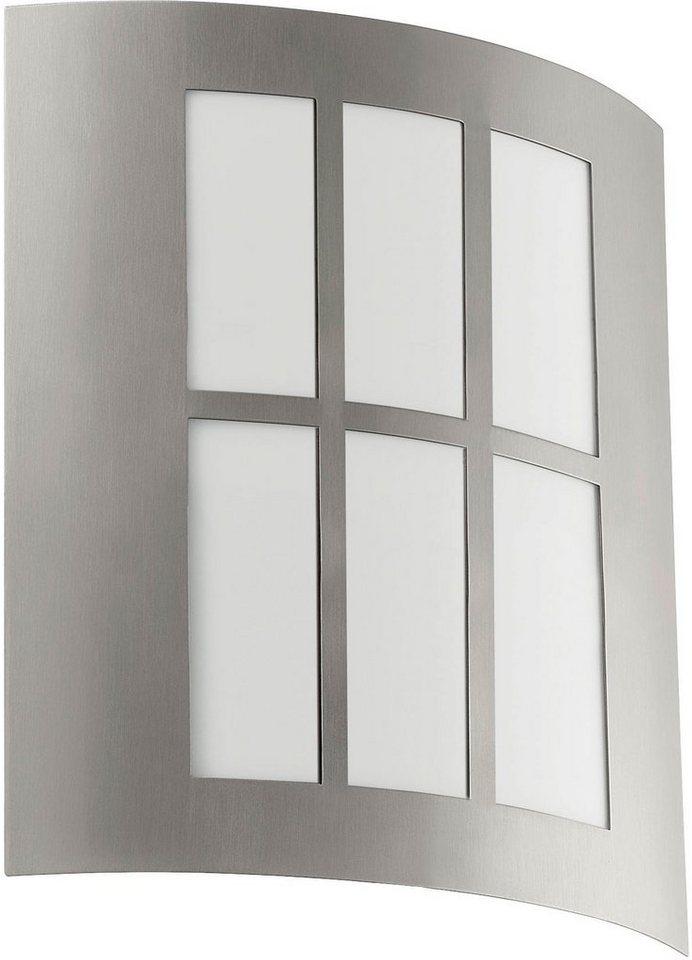 Eglo LED Außenleuchte, 1 flg., Wandleuchte, »City LED« in Edelstahl/Kunststoff