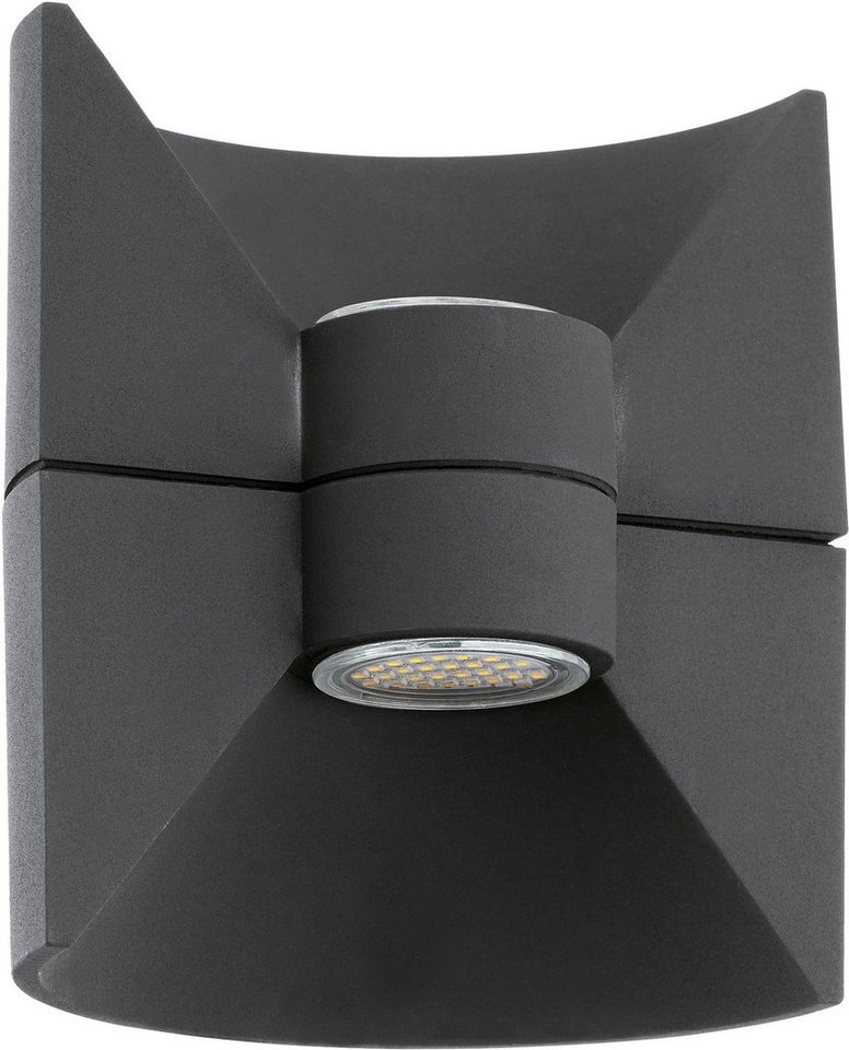 Eglo LED Außenleuchte, 2 flg., Wandleuchte, »Redondo« in Aluguss, anthrazit
