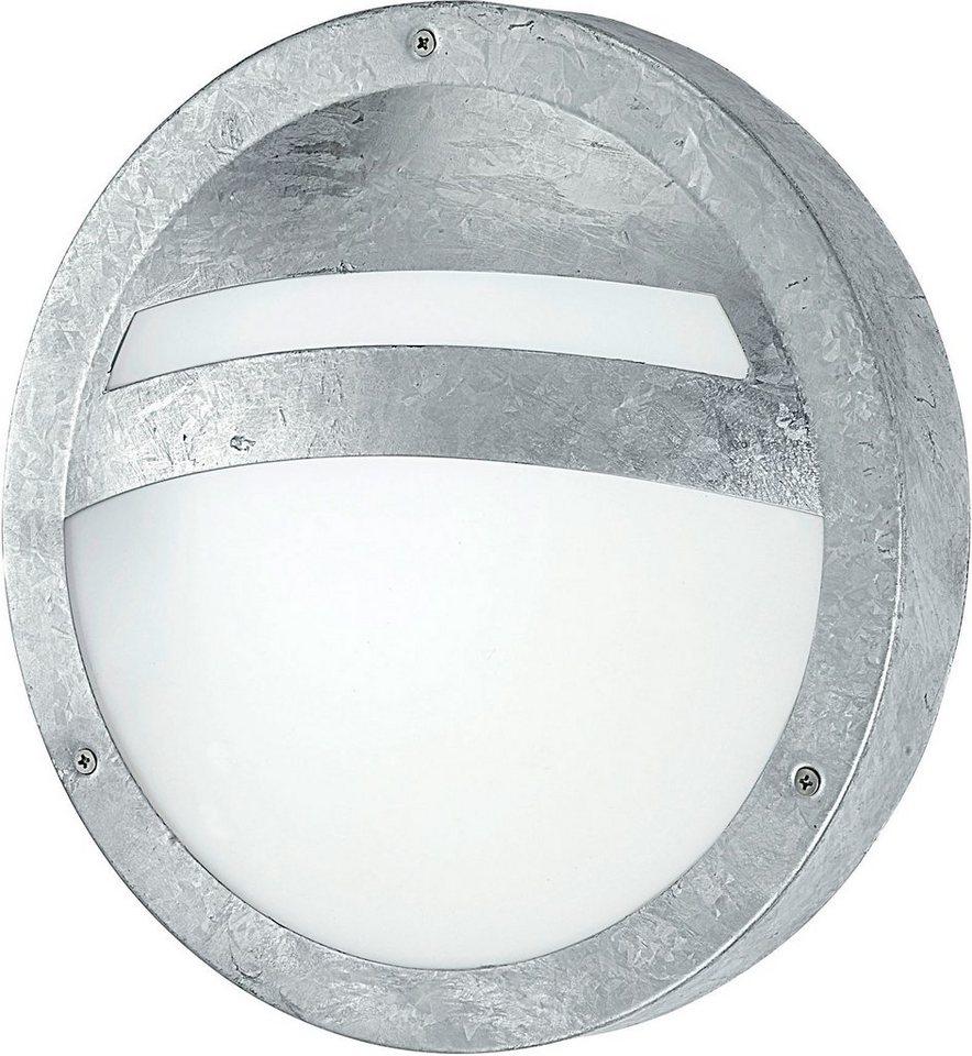 Eglo Außenleuchte, 1 flg., Wandleuchte, »Sevilla« in Stahl, feuerverzinkt/Glas satiniert