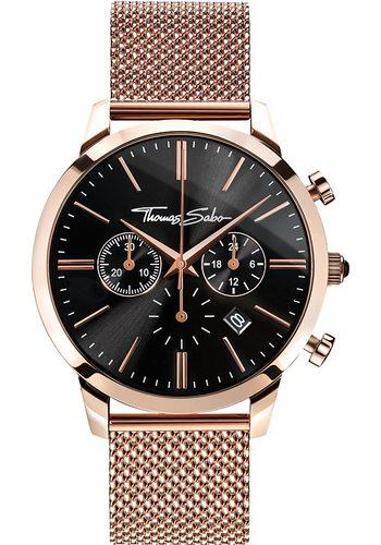 Herren THOMAS SABO Chronograph REBEL SPIRIT CHRONO WA0246-265-203 gold | 04051245219715