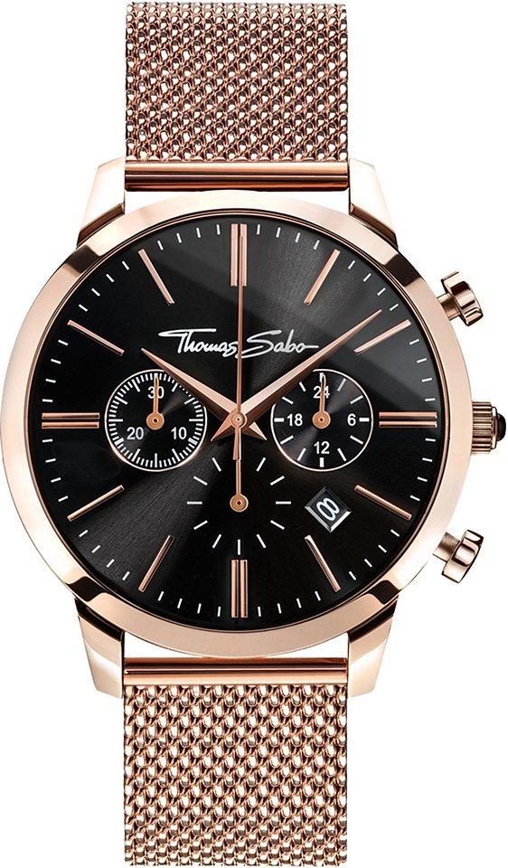 Thomas Sabo Chronograph »REBEL SPIRIT CHRONO, WA0246« in roségoldfarben